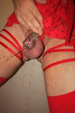 Aline en lingerie