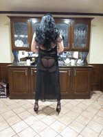 Black Sheer gown with garters